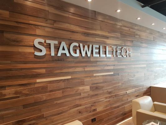Brushed-aluminium-3D-cut-logo-StagwellTech