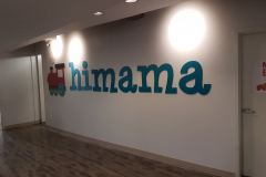 3D cut acrylic logo painted to match the colours himama