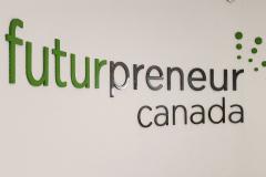 3D-cut-aluminium-letters-Futurepreneur-Canada