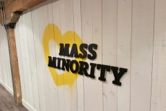 3D letters matte finish Mass Minority