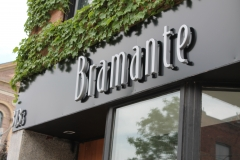 Bramante fabricated plastic 3D letters