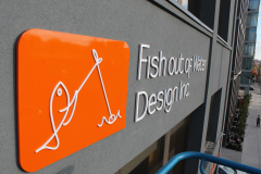 Custom-3D-logo-raised-from-the-wall-Fish-out-of-water