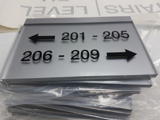 Acrylic directional signs 201-206-1