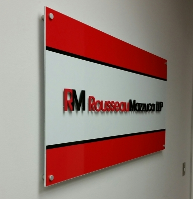 Aluminium cut out letters raised from aluminium panel for RM 1