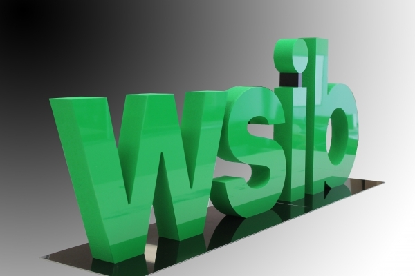 Freestanding 3D letters WSIB-