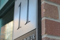Custom aluminium plaque 11 Michael Power Place-