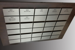 Stainless steel plaques for Tiger cats stadium-