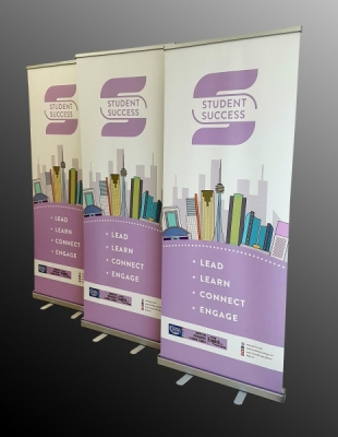 Student Success Goerge Brown retractable banners
