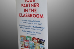 roll up banner Scholastic