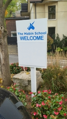 Mabin school dry erase billboard