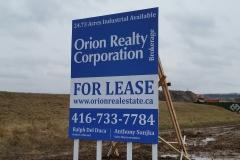 Orion Realty Corporation billboard