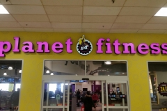 Channel letters Planet fitness