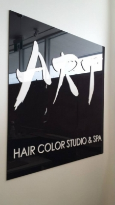 Interior sign Art Salon