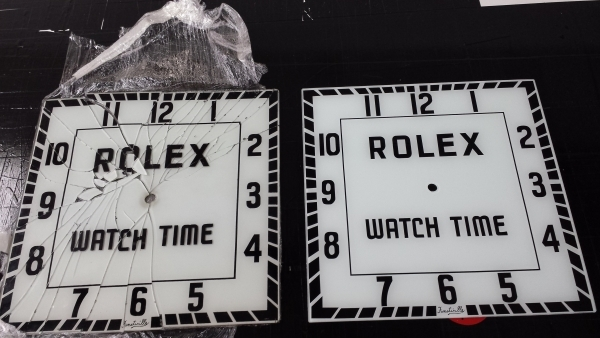 Rolex glass watch