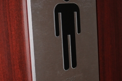 Custom washroom sign