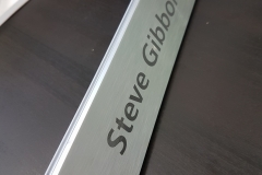 Solid brushed desk nameplate