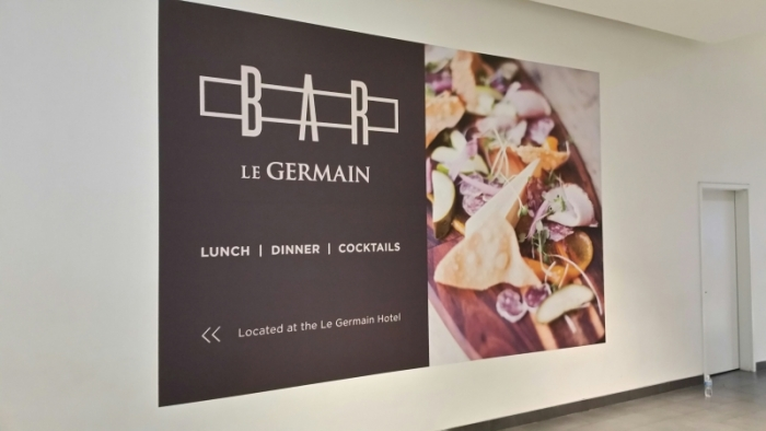 Wall graphics Le Germain