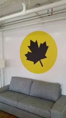 Wall graphics Leaf
