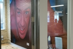 Wall graphics Bruce Willis