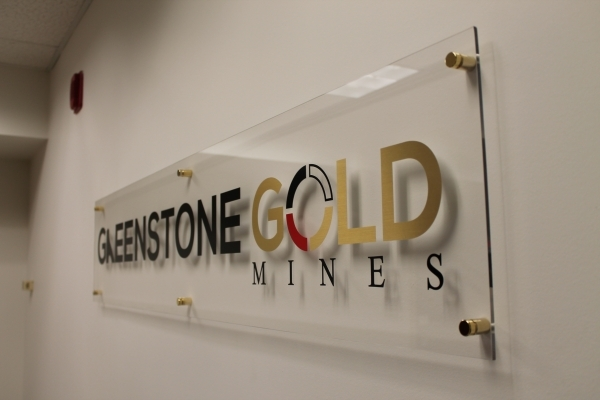 Greenstone reception sign