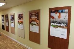 Arclin wooden plexi lobby signs