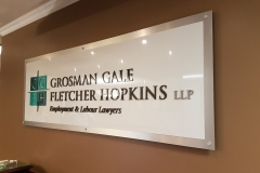 Custom 3D raised reception sign G