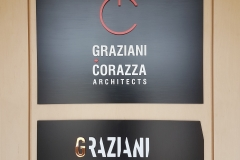Custom raised metal reception signs GRAZIANI