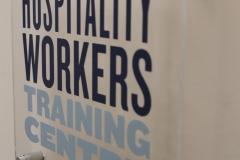 Lobby acrylic sign Hospitality