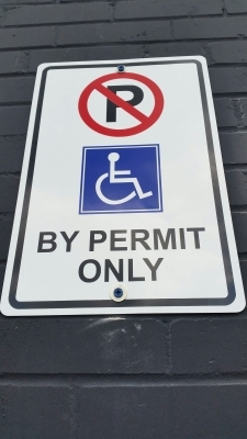 By permit only sign