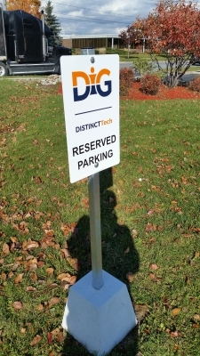 DIG reserved parking sign