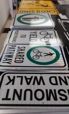 Peel project reflective signs