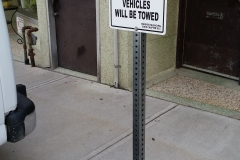 Parking sign Vacuums.