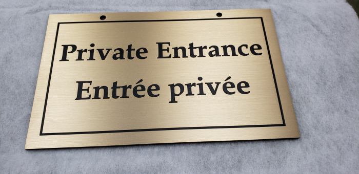 Etched-brass-plaque-Private-Entrance