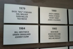 Brushed etched stainless steel plaques Tiger cats stadium