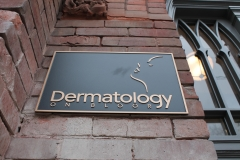 Custom bronze plaque Dermatology