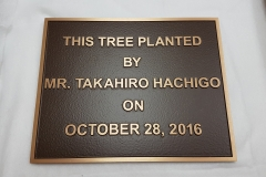 Custom bronze tooled plaque Hachigo
