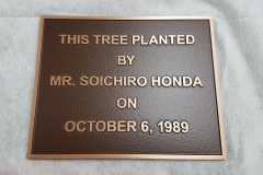 Custom raised text bronze plaque Honda
