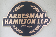 Custom-shaped-bronze-plaque-Arbersman