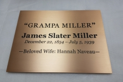 Etched bronze plaque M