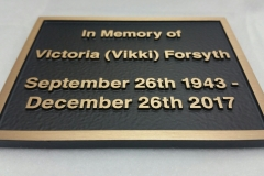 Solid bronze plaque In Memory