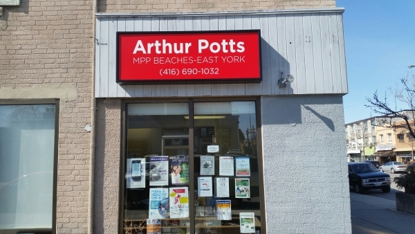 Sign box Arthur Potts