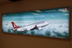LED illuminated sign box Turkish airline
