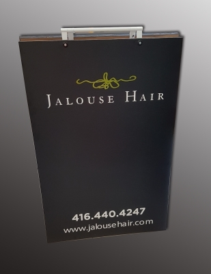 Chalk a board Jalouse Hair salon