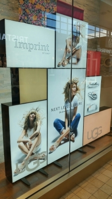 Custom LED sign boxes UGG Yorkdale mall