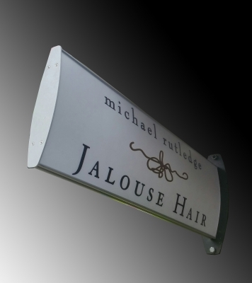 Custom aluminium bracket directional sign