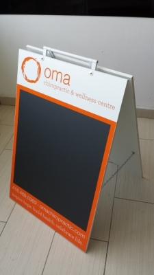 Custom chalk a frame OMA