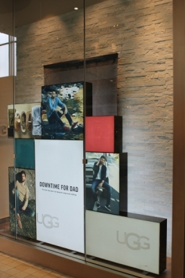 UGG custom sign boxes wall