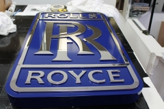Rolls-Royce fully polished steel cut out letters logo