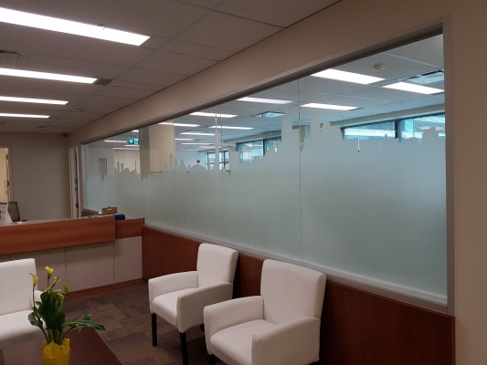 Crystal sparkle window frosting Toronto