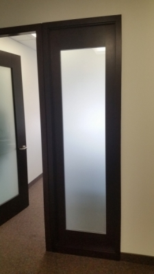Frosted door Lamarche
